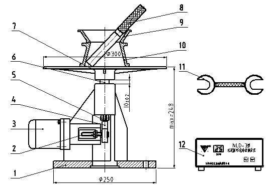 水泥胶砂流动度测定仪结构图